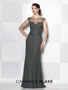 Cameron Blake Gunmetal 215636 Dress