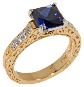 Jean Dousett Jean Dousset Sapphire Absolute Solitaire Ring In Vermeil 5