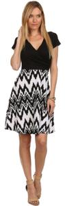 Gilligan & O'Malley short dress Black White on Tradesy
