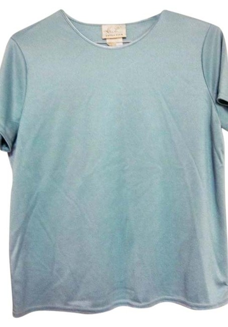 Kathie Lee Collection Shortsleeve Pullover Polyester Cotton Top Mint Green