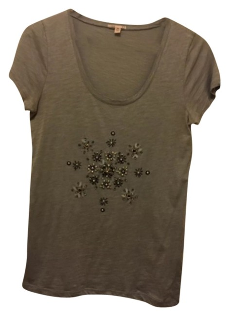 Preload https://item4.tradesy.com/images/jcrew-gray-sparkle-snowflake-tee-night-out-top-size-8-m-10234798-0-1.jpg?width=400&height=650