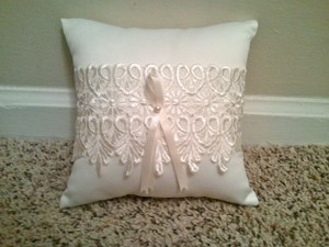Hortense B. Hewitt Ivory Lace Ring Bearer Pillow