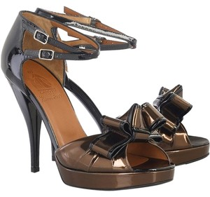 Lanvin Bronze & Black Sandals