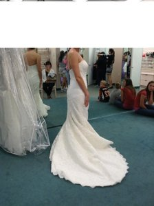 Oleg Cassini Oleg Cassini Beaded Lace Trumpet Gown Wedding Dress