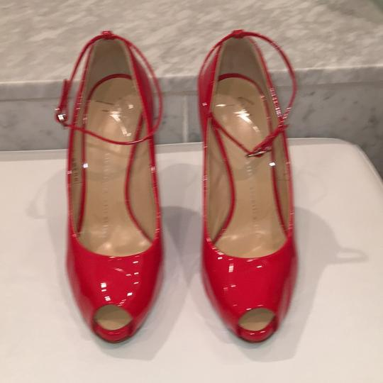 Giuseppe Zanotti Red patient leather Pumps