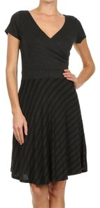 Gilligan & O'Malley short dress Black Grey on Tradesy