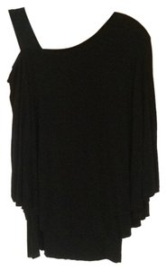 Bailey 44 Asymmetrical Shirt Top Black