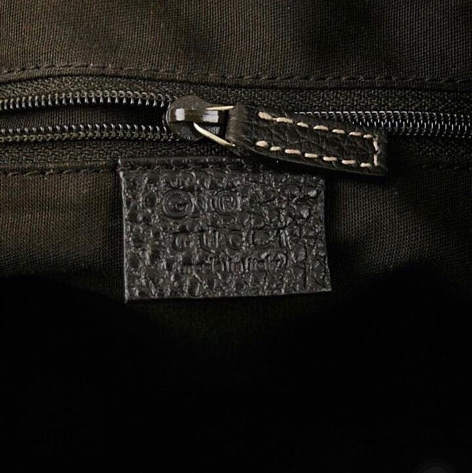 22b91d822a2 Gucci Abbey 293581 Crystal Gg Canvas Convertible D Ring Tote Purse W ...