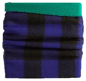 Burberry Burberry Solid to Check Cashmere Merino Wool Snood
