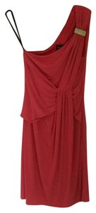 Laundry by Shelli Segal Coral Red Poppy Asymmetrical Dress