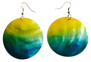 Other Multicolor Colorful Ombre Circular Earrings Chic