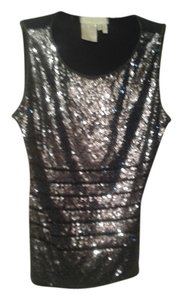 Escada Top black with grey pearl beads