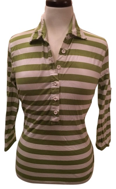 Preload https://item5.tradesy.com/images/talbots-green-and-white-blouse-size-8-m-10237759-0-1.jpg?width=400&height=650