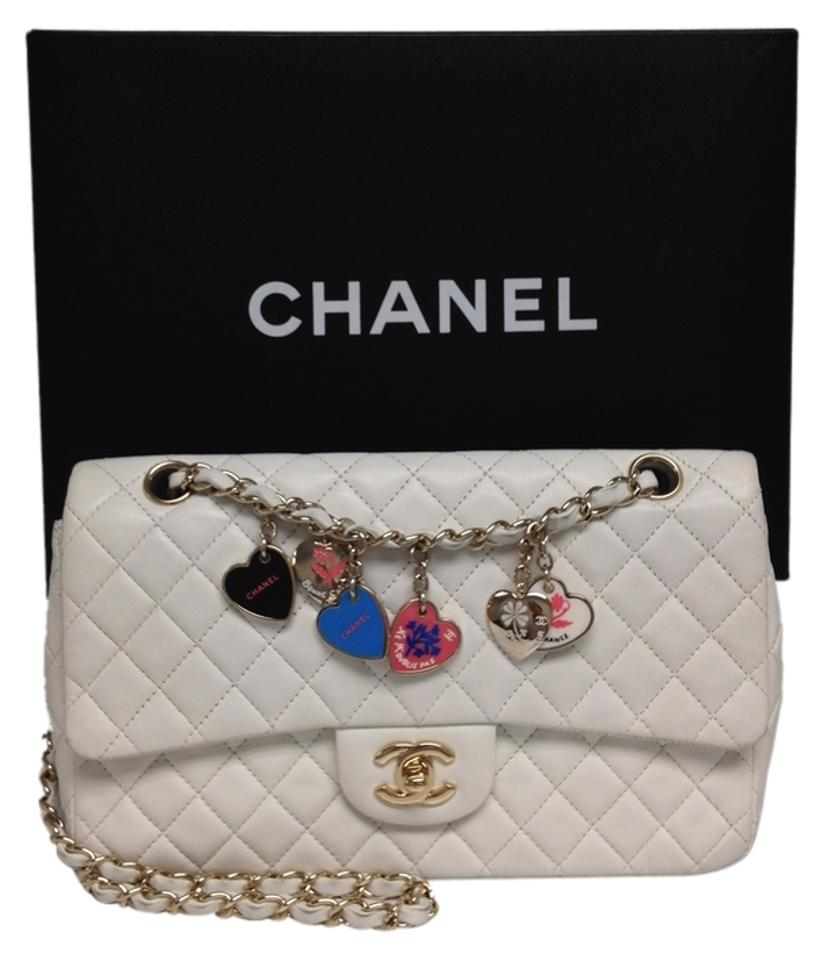 fce2a8a2c549 Chanel Classic Flap #4189 Limited Edition Valentines Charms Cc Heart ...