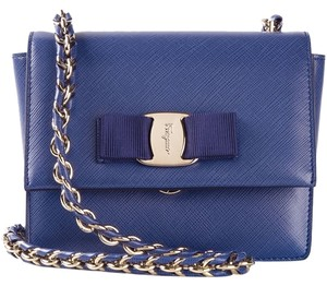 Salvatore Ferragamo Chain Leather Cross Body Bag