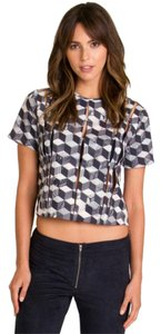 RVCA Checkered Top grey