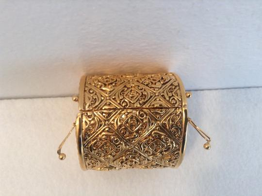 Chanel RARE VINTAGE CHANEL GOLD PLATED BYZANTINE STYLE CC CUFF