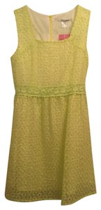 Ellison short dress Bright Yellow Classy Juniors Womens Lace Eyelet Girls Small Blush on Tradesy