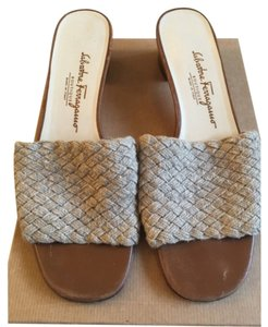 Salvatore Ferragamo Beige Wedges