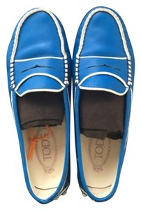 Tod's Flat Driving Tods Loafter Blue Flats