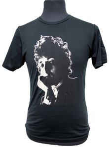 Hysteric Glamour Bob Dylan Dylan T-shirt Organic Cotton Folk Music Rock And Roll Rock N Roll Rock &roll T Shirt Black