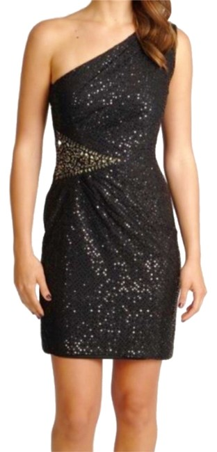 Cachet One Shoulder Semi-formal Beaded Dress