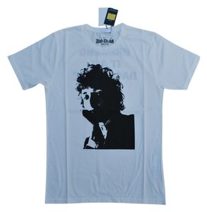 Hysteric Glamour Bob Dylan Dylan Organic Cotton Folk Music Rock Rock And Roll Rock N Roll Rock & Roll T Shirt White
