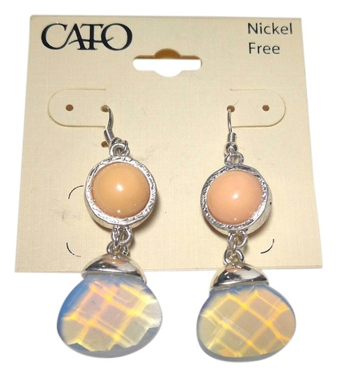 Preload https://img-static.tradesy.com/item/10239157/peach-silver-new-cato-bib-style-j1750-earrings-0-1-540-540.jpg