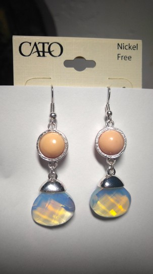 Other New Cato Bib Style Earrings Peach Silver J1750