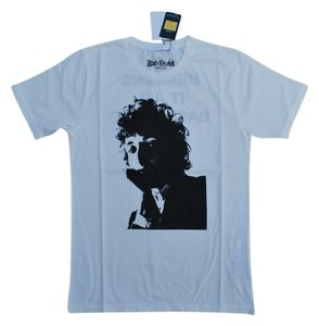 Hysteric Glamour Bob Dylan Dylan Folk Music Rock And Roll Rock Rock N Roll Rock & Roll Organic Cotton T Shirt White