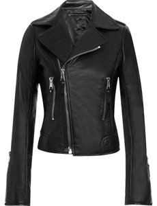 Balenciaga Leather Biker Moto Leather Jacket