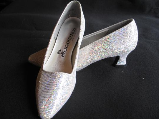 Coloriffics Silver Sparkle Pumps