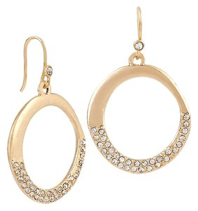 Kenneth Cole Kenneth Cole Pave Gypsy Hoops Earrings