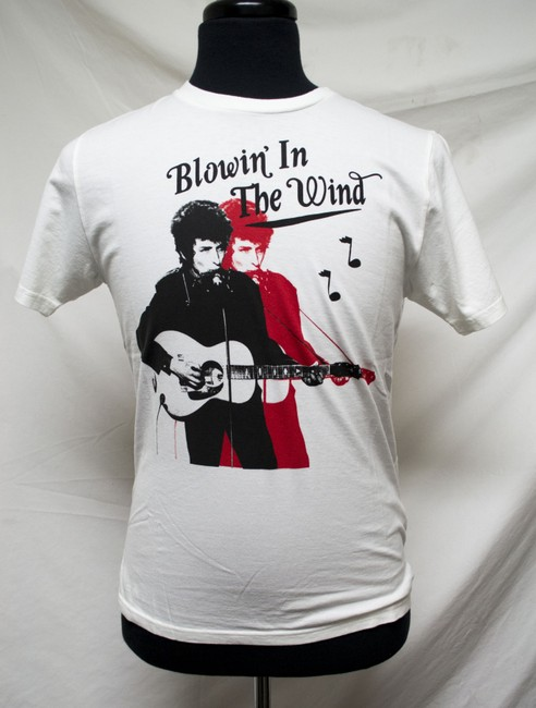 Hysteric Glamour Bob Dylan Blowin' In The Wind Organic Rock And Roll T Shirt White