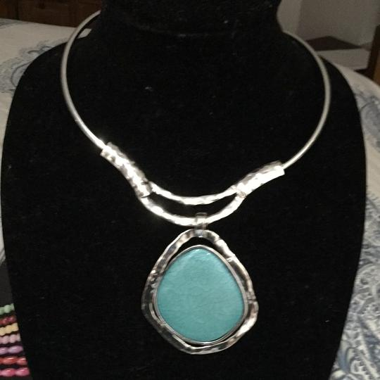 Preload https://item1.tradesy.com/images/lei-turquoisesilver-lei-chunky-medallion-necklace-10240015-0-0.jpg?width=440&height=440