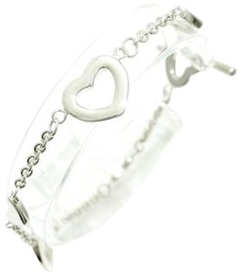 Tiffany & Co. Authentic Tiffany & Co. Sterling Silver Heart Charm Toggle Bracelet