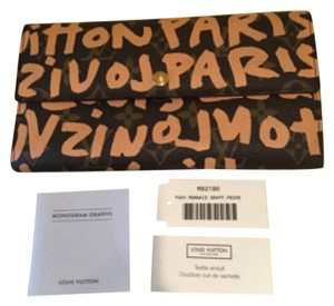 Louis Vuitton Like New Limited Edition Graffiti Wallet