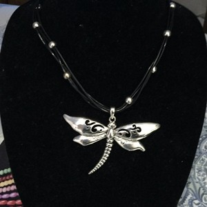 L.E.I. Lei Silver Plated Dragonfly Choker Necklace