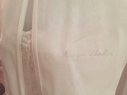 Monique Lhuillier White Silk and Chantilly Lace Gwyneth Wedding Dress Size 0 (XS)