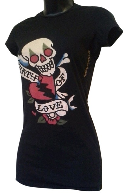 Preload https://item2.tradesy.com/images/ed-hardy-black-christian-audigier-death-of-love-tee-shirt-size-2-xs-10240726-0-1.jpg?width=400&height=650