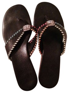 Brighton Black with multi color trim Sandals