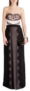 Nude Pink/Black Maxi Dress by Ted Baker Evening Long Gown