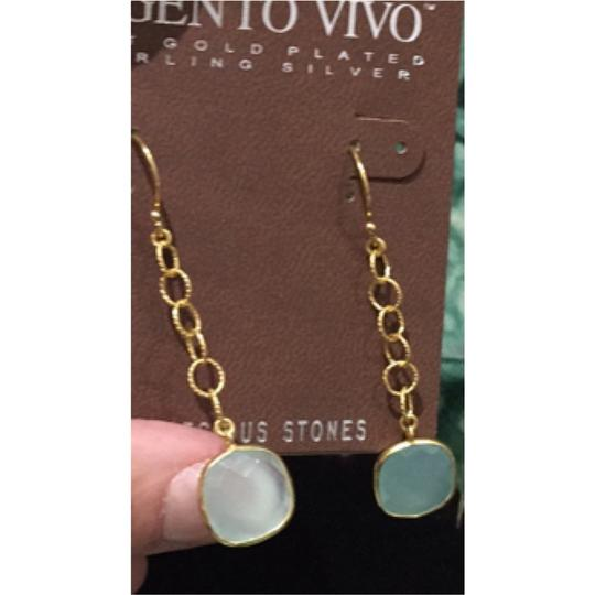 Argento Vivo Argento Vivo Drop Chain And Light Green Earrings