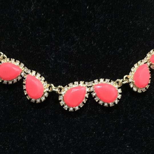 Kate Spade Kate Spade Chunky Pink Crystal Drops Framed Pave Necklace