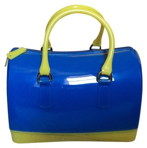 SABOHEMIAN Satchel in Blue/Yellow
