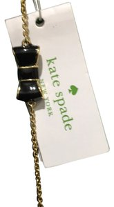 Kate Spade Kate Spade Black Enamel NY Bow Necklace
