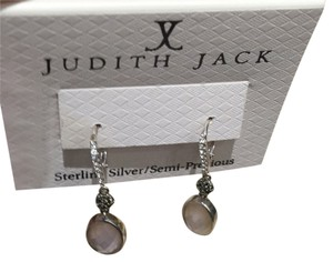 Judith Jack Judith Jack Pink Antiqued Drop Earrings