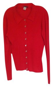 Mark Shale Silk Button Down Ribbed Sweater