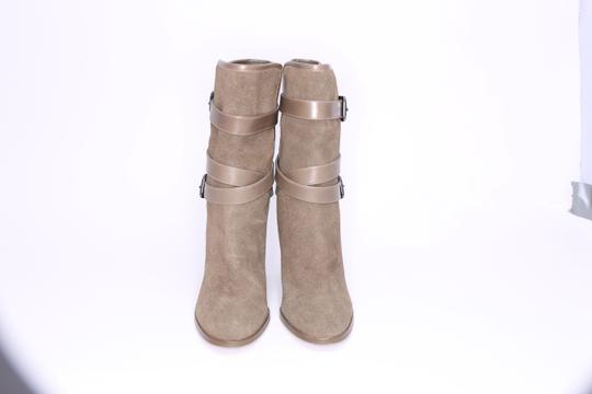 Coach Womens Suede Leather Heels Green Boots