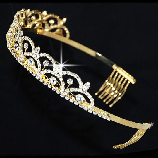 Gold-plated Scallop Queen Crown Tiara
